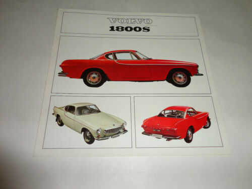 1965-1966 Volvo 1800 S Coupe Sweden Sales Fold Out Brochure United States Market