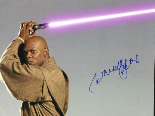 Samuel L Jackson Star Wars Autograph Signed 11 x14 JSA COA