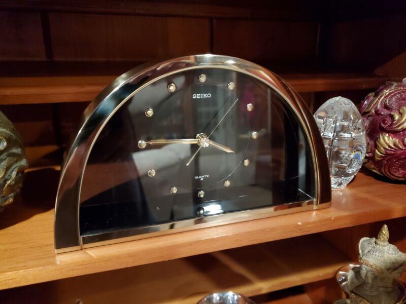 Vintage 1994 Seiko QQZ137G Half Moon Mantle Clock Made in Japan