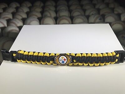 (Pittsburgh Steelers NFL Paracord W/Buckle Clasp, 9.5 Inches Long)
