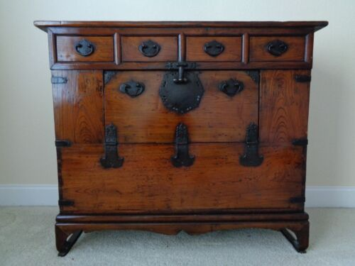 """Very Large Korean Traditional Storage Chest  - 35.5"""" high x 42.5"""" wide x 16.5"""""""