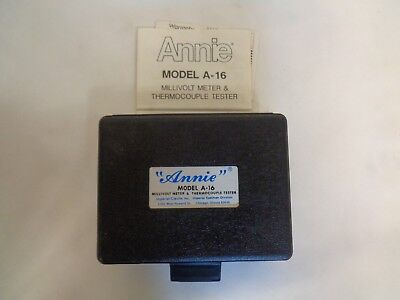 New Imperial Eastman Annie Model A-16 Millivolt Meter Thermocouple Tester