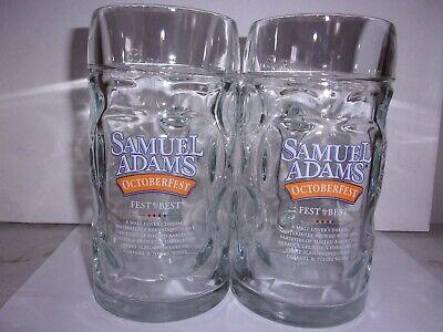 Sam Adams Octoberfest Beer Mugs fest is best  (2) 16oz. Collectible  Barware    (Best Sam Adams Beer)