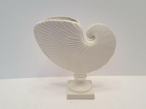 "Margaret Furlong True Nautilus Seashell Vase/Planter - Signed 8"" Tall Sea Shell"