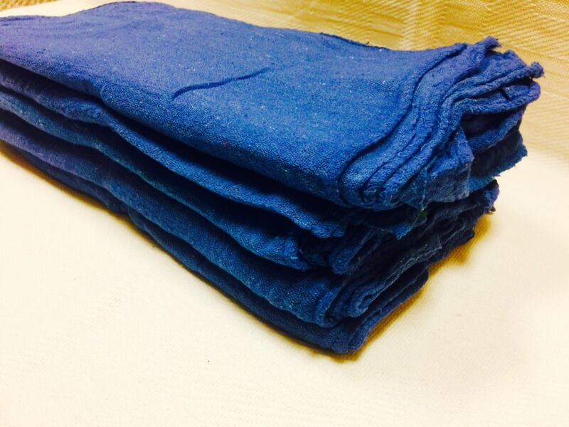 "2500 PACK INDUSTRIAL COMMERCIAL BLUE SHOP CLEANING TOWEL RAGS 13""X14"""