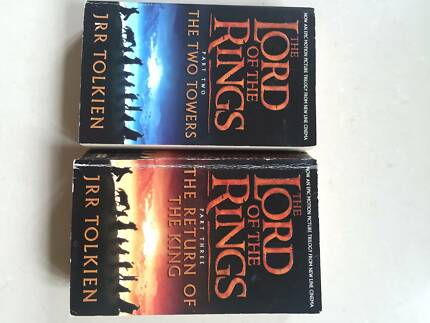 LORD of the RINGS books TWO TOWERS  & THE RETURN OF THE KING