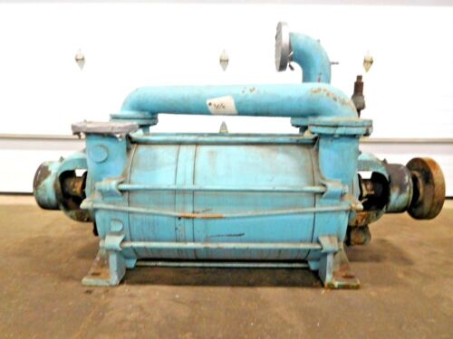 MO-2708, GRAHAM LIQUID RING GAS HIGH VACUUM PUMP. 1PV8255/FNZ. 20 SCFM. 2 STAGE.