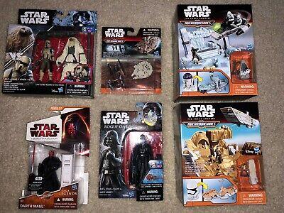Star Wars MIX Figure Lot w/ Darth Vader Maul + Micro Machine Sets! NEW HASBRO