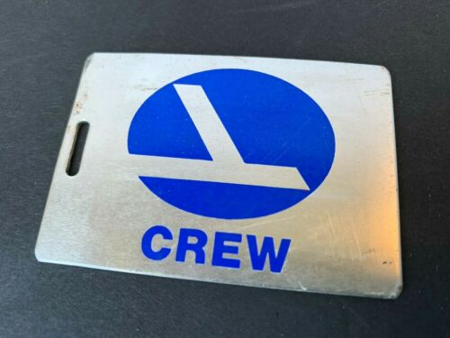 Vintage Eastern Airlines Crew Metal Baggage ID Tag With Name