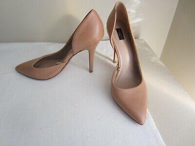 Zara Basics Tan Leather Shoes Size 39 (8.5)