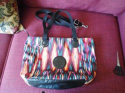 Kipling Shopper Bag Black/ multi coloured.