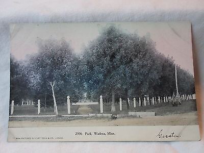 For sale Wadena Mn Minn Minnesota, Park , early postcard,