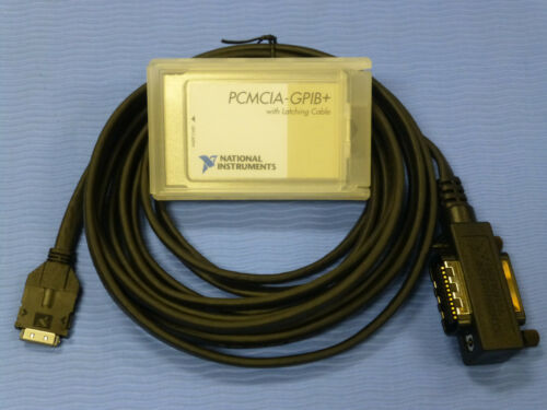 National Instruments PCMCIA-GPIB+ Controller / Analyzer Card with Latching Cable