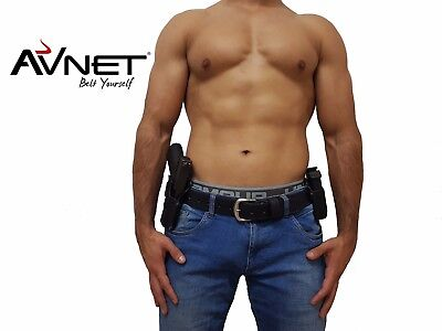 GUN BELT CCW HOLSTER WORLDS BEST! 100% BUFFALO LEATHER!  MILITARY