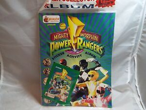 POWER RANGERS STICKER ALBUM PRODUCED BY MERLIN