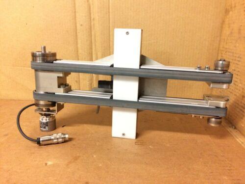 Small Double Belt Conveyor Heidenhain Encoder Vitronic Background Light