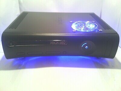 XBOX 360 CUSTOM CONSOLE WITH COOLING FANS LED LIGHTS AND FULL WARRANTY