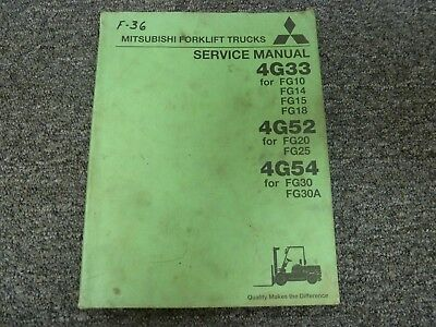 Mitsubishi 4g33 Engine For Fg10 Fg14 Fg15 Fg18 Forklift Service Repair Manual