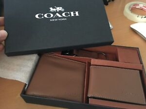 COACH Compact Id Wallet In Crossgrain Leather