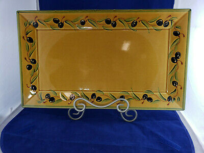 - RARE WILLIAM SONOMA NICOISE OLIVE COURSANG Serving Tray