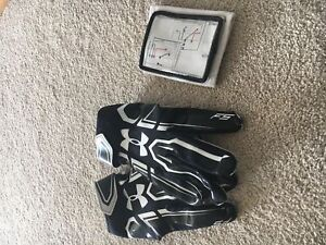 Under armour football gloves large