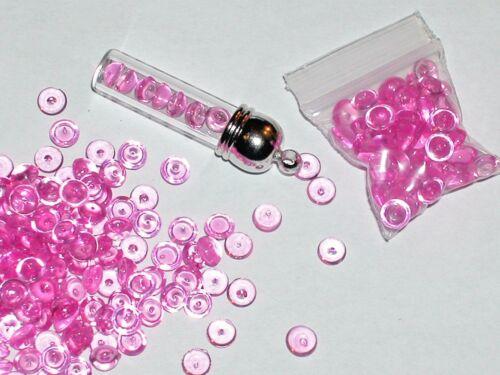 50pc bag Hot Pink Fairy pebbles acrylic half bubbles for glass bottle vials 5mm