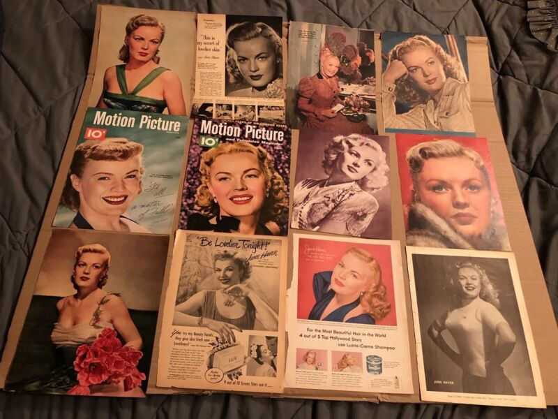 JUNE HAVER  -  Assorted Lot of Clippings