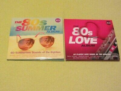 The 80s Love Album & The 80s Summer Album 2 Albums 6 CDs Wham Bros Toto Journey