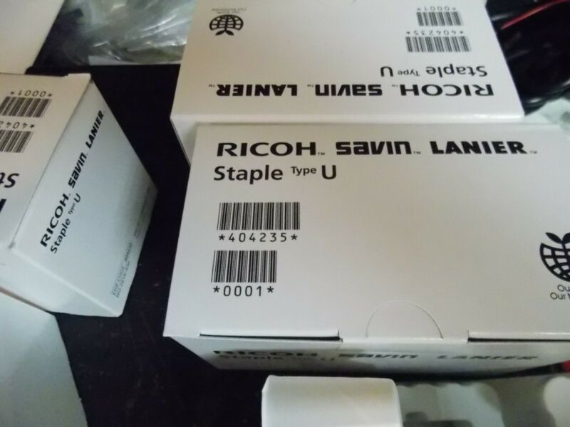 Ricoh Savin Lanier Type U  staples 404235 281R qty 4 boxes