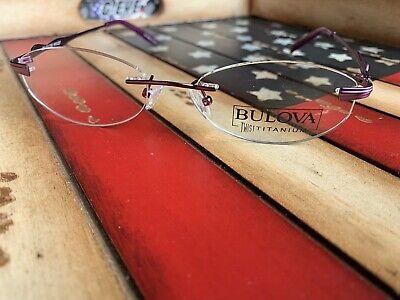 BULOVA Kona Twist Titanium Rim-less Violet eyeglasses Frame Option To Add (Kona Titanium Frame)