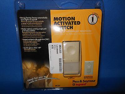 Pass Seymour Mcsiv Motion Switch 120 Volt 25-500 Watt 1 Pole 3 Way New