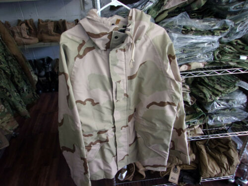 MILITARY ISSUE DESERT CAMO GORE-TEX JACKET COLD WEATHER PARKA MENS MED. SHORT