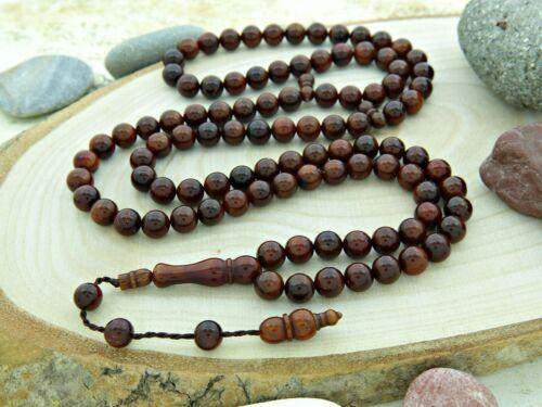 Natural Kuka tree 99 bead Islamic Prayer Beads Misbaha Tesbih worry salat 201289