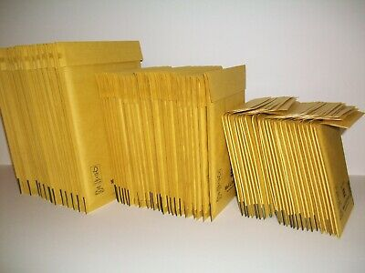 75 Mix A/000 C/0 D/1 MAIL LITE Gold Bubble Lined Padded Mailing Bags - CLEARANCE
