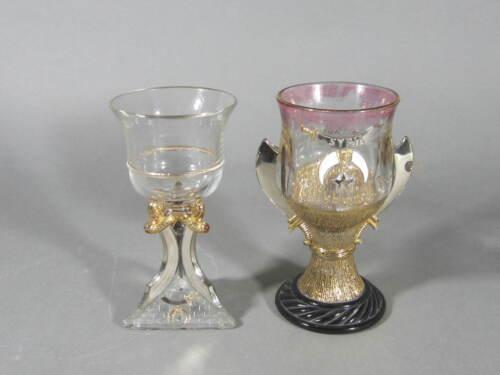 2 Vintage Masonic Syria Temple Shriner Glasses / 1900 & 1908