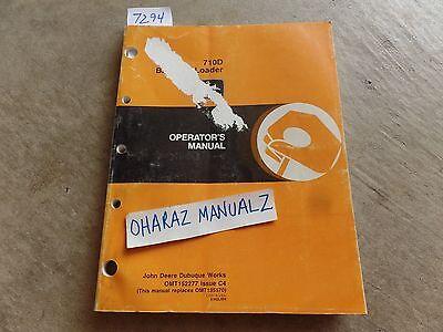 John Deere 710d Backhoe Loader Operators Manual Omt152277