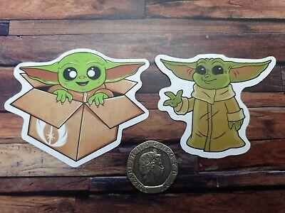 Baby Yoda Laminated Sticker Star Wars Mandalorian Decal Wall Window Bike Laptop