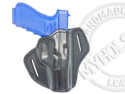 OWB Open Top Leather Right Hand Holster Fits  Sig Sauer P320 X-Carry Open Top Sig