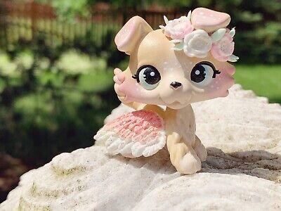 LPS Littlest Pet Shop OOAK Handpainted Custom Collie Dog Flower Crown