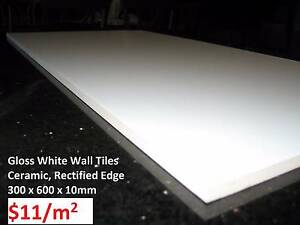 Gloss White Wall Tiles 300x600 Brand New Rectified Ceramic SALE Marrickville Marrickville Area Preview