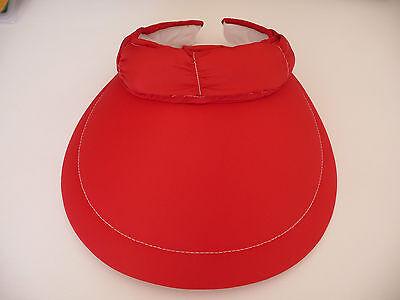 Golf Visor Für Damen (Cabrio Visor/Cap für Damen von EVERTAN (Rot) Beste Qualität)