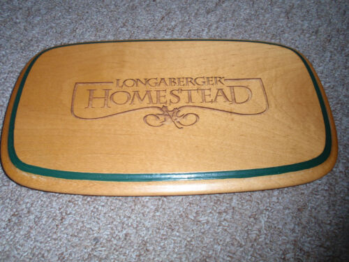 """Longaberger WOODCRAFT """"LID"""" FOR THE WOVEN MEMORIES 1999-2001, pre-owned"""