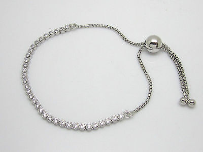 Authentic Pandora  590524Cz 1 Sparkling Strand Adjustable Bracelet