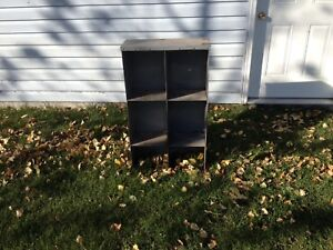 Small metal cubby hole cabinet