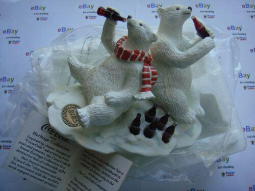 Vintage 1994/95 Heritage Collection 23004 Coca-Cola Polar Bear & Friend Figurine