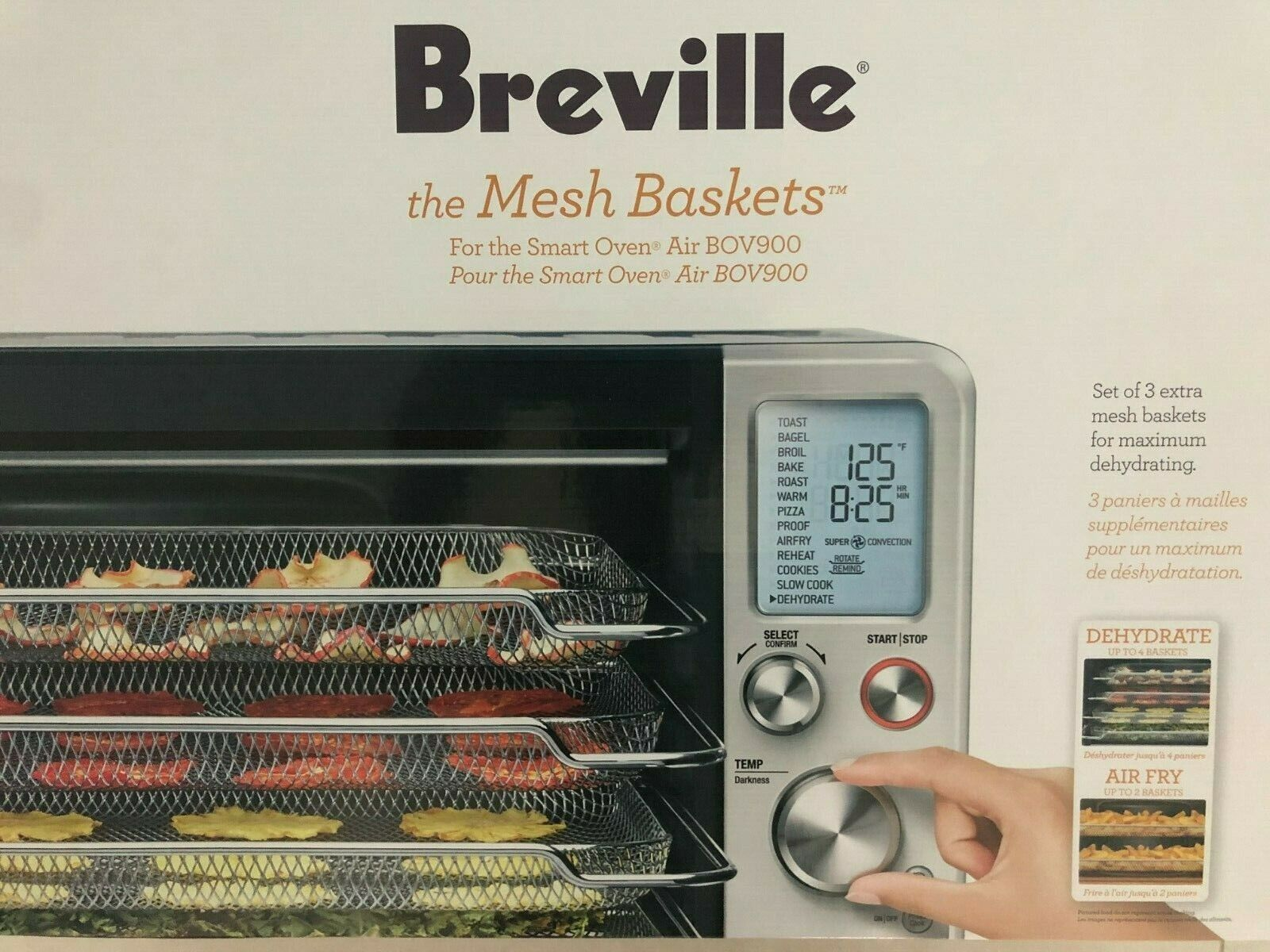 BRAND NEW BREVILLE THE MESH BASKETS FOR THE SMART OVEN AIR - SET OF 3 BASKETS!