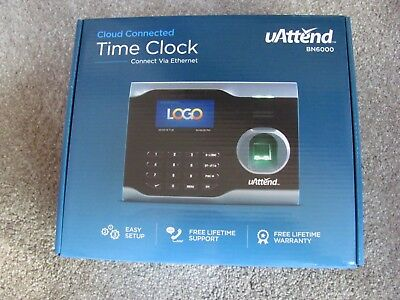 Brand New Uattend Bn6000 Biometric Fingerprint Cloud Connected Time Clock