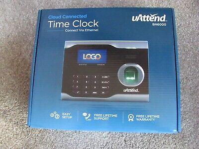 Brand New Uattend Bn6000 Biometric Fingerprint Cloud Connected Time Clock