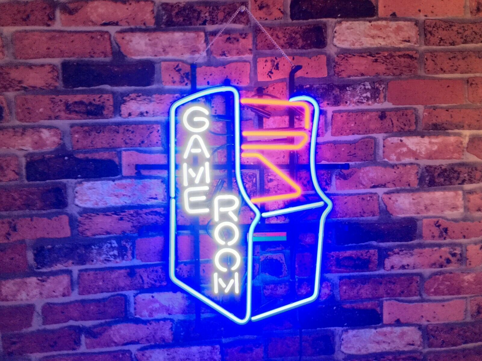 """New Game Room Arcade Neon Light Sign 20""""x16"""" Beer Cave Gift"""