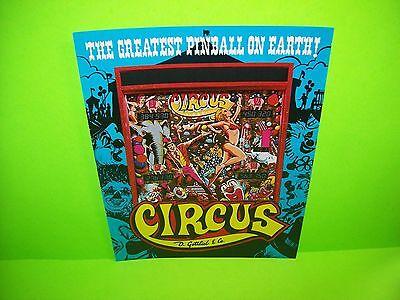 Gottlieb CIRCUS Original 1980 Flipper Game Pinball Machine Promo Sales Flyer
